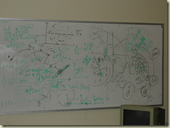 Laboratory whiteboard, featuring metaheuristics