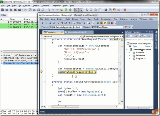 Wireshark and Sockets