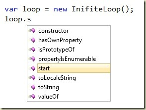 JavaScript Intellisense
