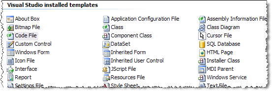 sorted items in vs2005