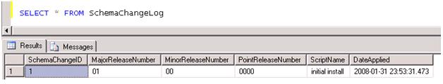 schema change log 1