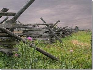 Autumn sky over Antietam battlefield