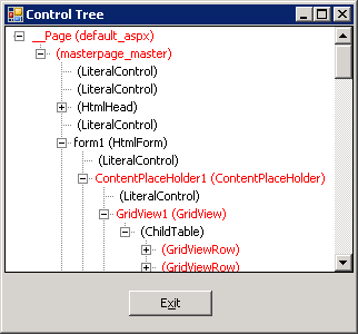 control tree debugging visualizer