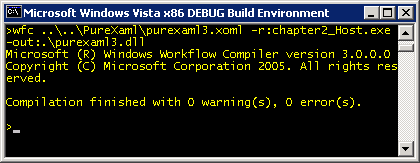 A successful compile with wfc.exe