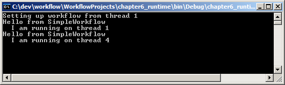 Output of SimpleWorkflow with different schedulers