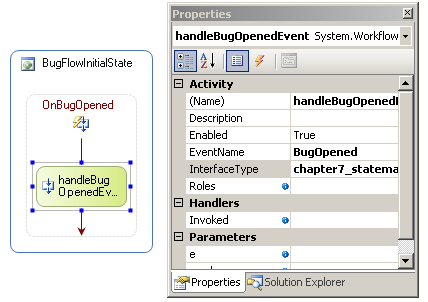Setting up the HandleExternalEventActivity