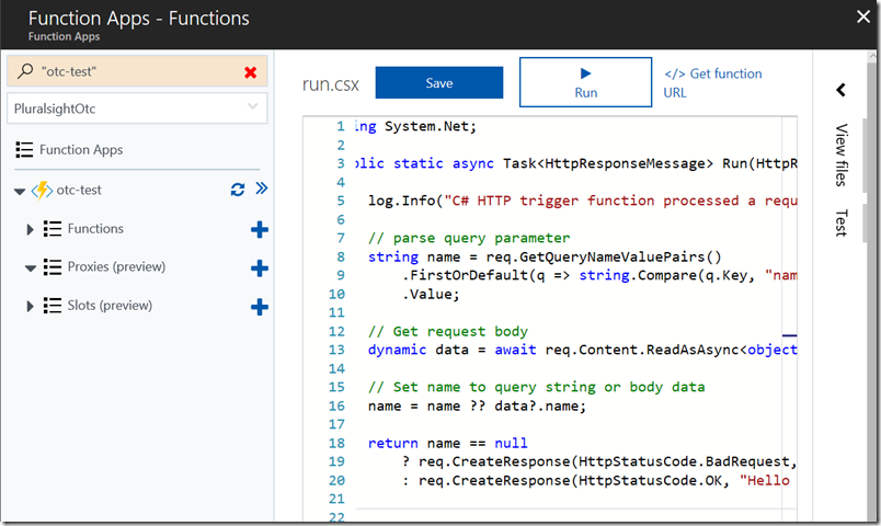Sample Azure Function for HTTP Message Processing