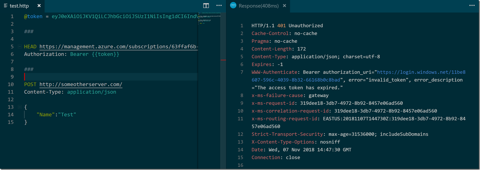 REST Client Extension for VS Code