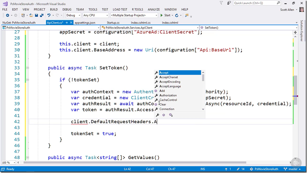 Building Secure Services in Azure
