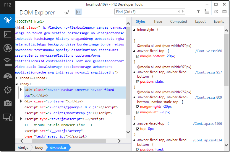 Dev Tools DOM Explorer