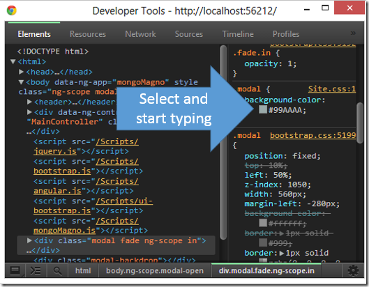 Editing CSS in Chrome Workspaces