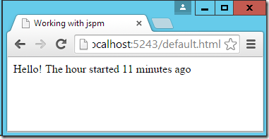 running with jspm and moment.js