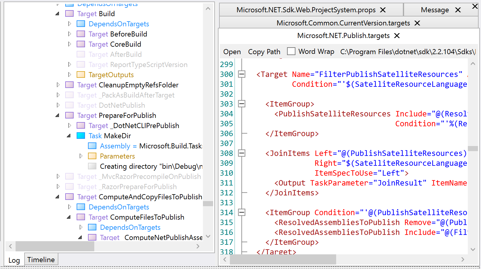 Debugging  NET Builds with the MSBuild Structured Log Viewer