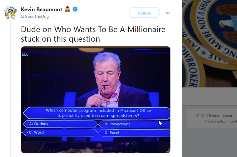 Office on Who Wants to be a Millionaire